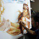 Arnold_Conan_original_painting_movie_poster_soutsos