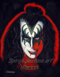 Gene_Simmons_painting_portrait_KISS_poster