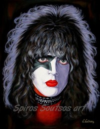Paul_Stanley_painting_portrait_KISS