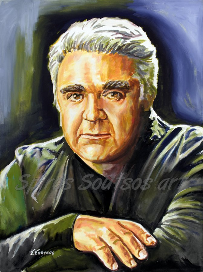 Paschalis Terzis / Πασχάλης Τερζής πορτραίτο αφίσα, αυθεντικός πίνακας ζωγραφικής, πόστερ
