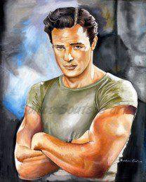 Marlon_brando_painting_portrait