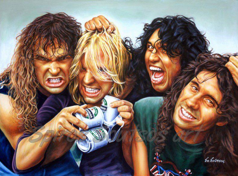 Slayer_Reign_in_blood_painting_poster_hanneman_araya_king_lombardo_portraits