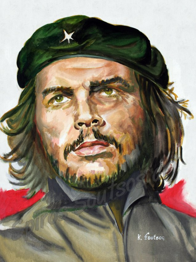Che Guevara , poster, original painting portrait artwork