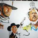 eli_wallach_poster_painting_clint_eastwood