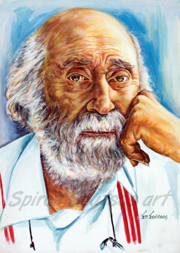 Yannis Tsarouchis painting / Γιάννης Τσαρούχης πορτραίτο, αφίσα, αυθεντικός πίνακας ζωγραφικής, πόστερ
