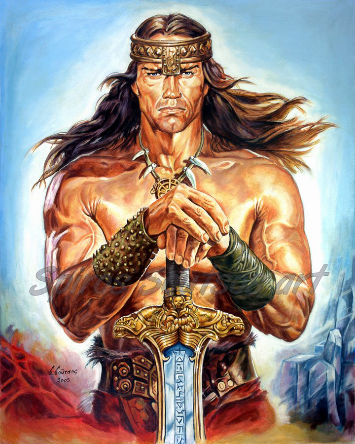 arnold_schwarzenegger_painting_conan_the_destroyer_movie_poster_canvas