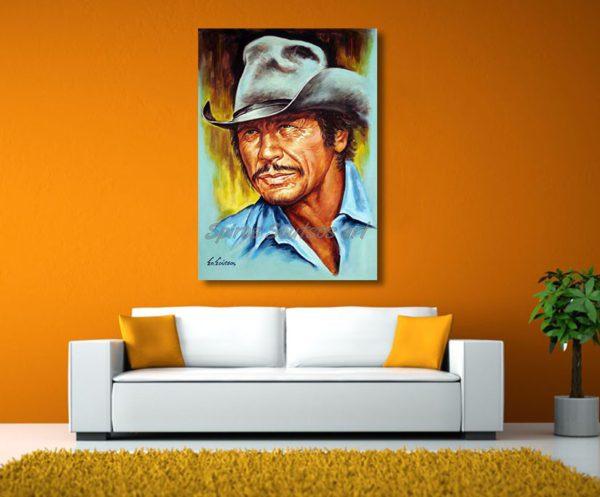charles_bronson_painting_poster_canvas_print