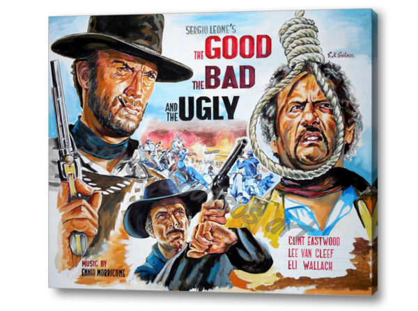 good_bad_ugly_canvas_print_poster_eastwood_painting