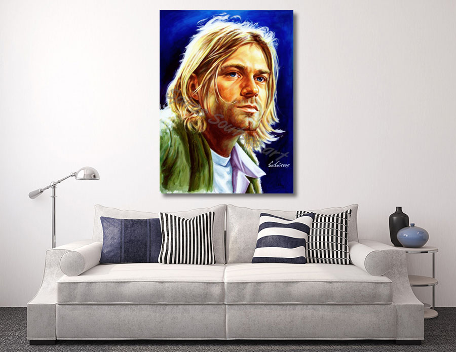 kurt_cobain_nirvana_painting_print_poster_canvas