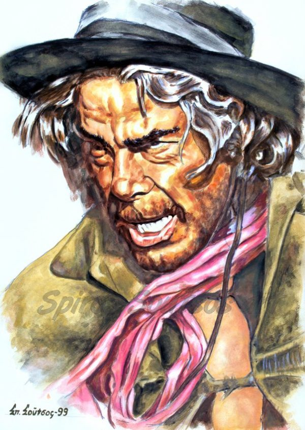 lee_marvin_cat_ballou_painting_portrait_poster_print