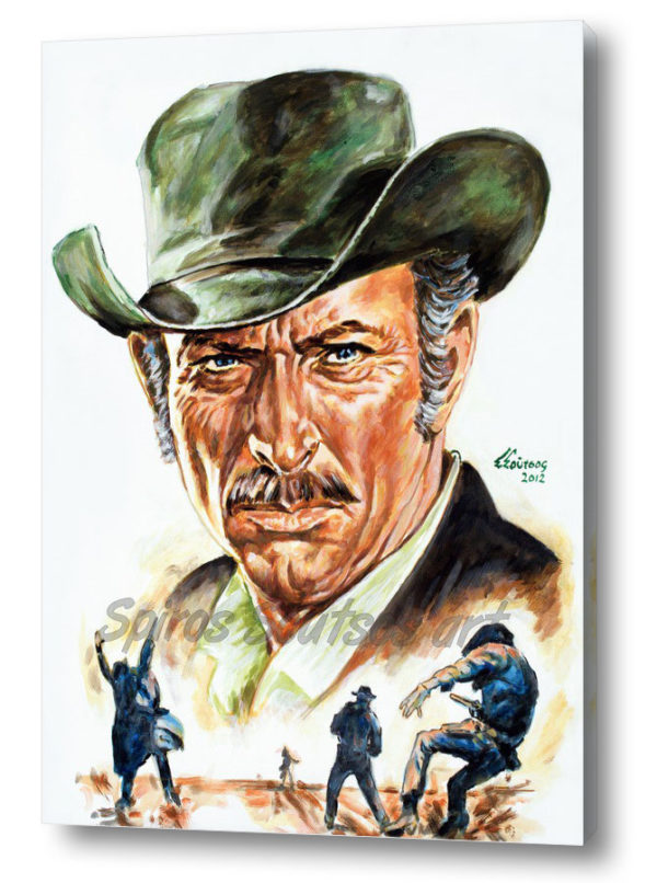 lee_van_cleef_canvas_print_painting