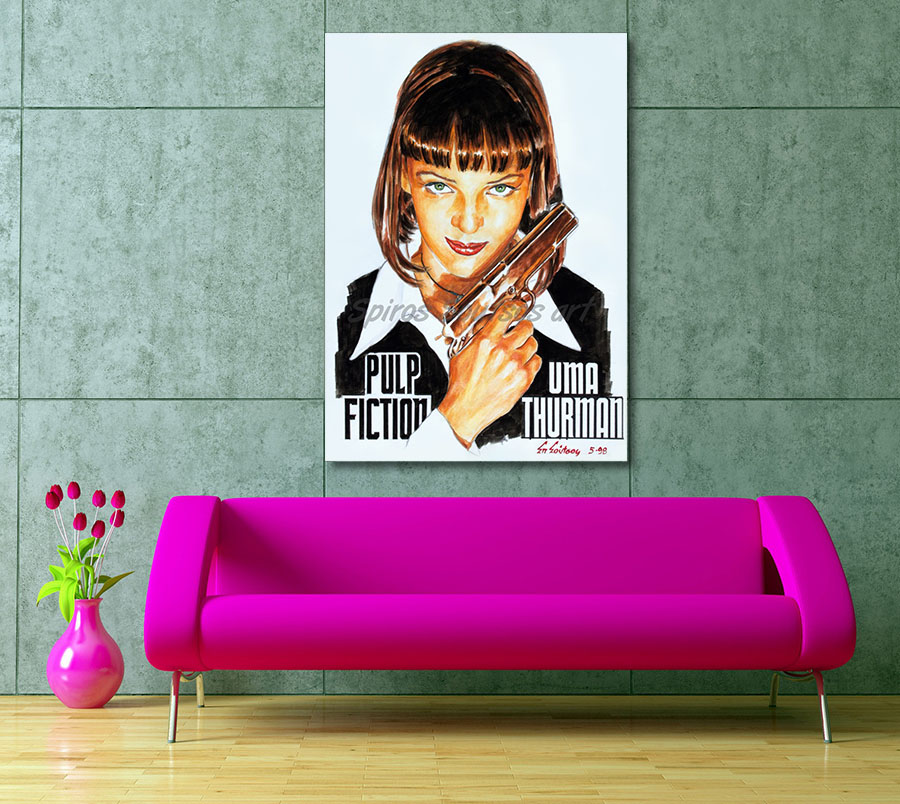 pulp_fiction_canvas_poster_offer_print_uma_thurman_portrait_painting