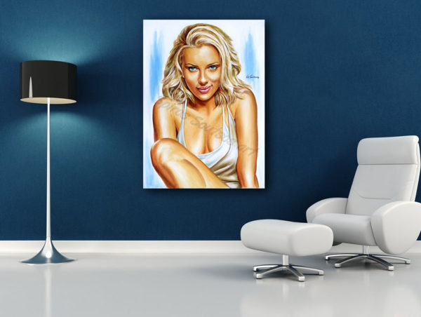 Scarlett_Johansson_painting_portrait_canvas_print_sofa