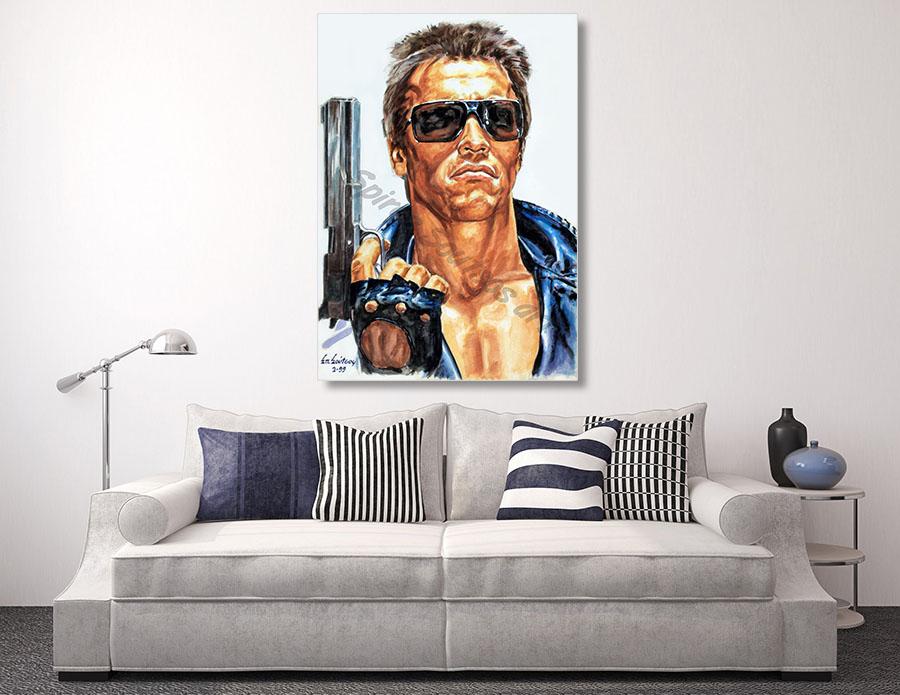 Terminator Arnold Schwarzenegger Painting Movie Poster