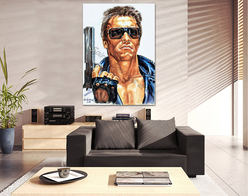 terminator_movie_poster_acrylic_painting_arnold_swarzenegger_portrait_decor_print