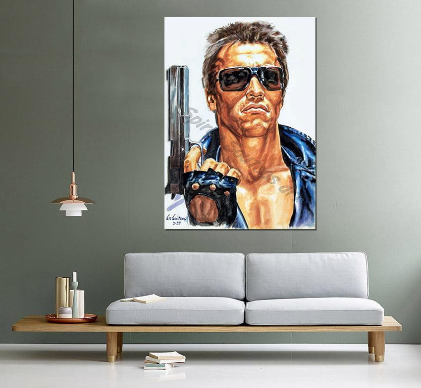 terminator_movie_poster_acrylic_painting_arnold_swarzenegger_portraitcanvas_print_sofa