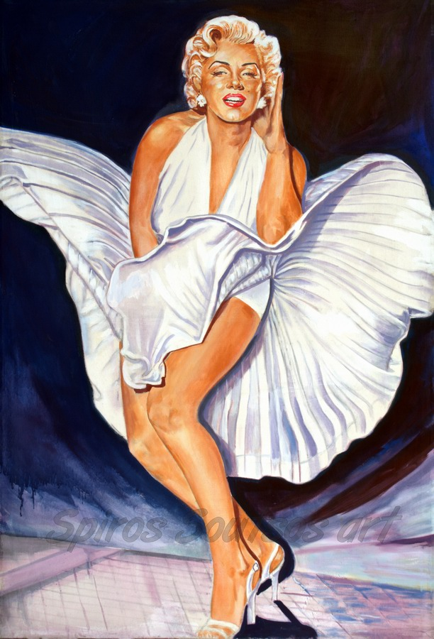 marilyn monroe painting poster seven year itch