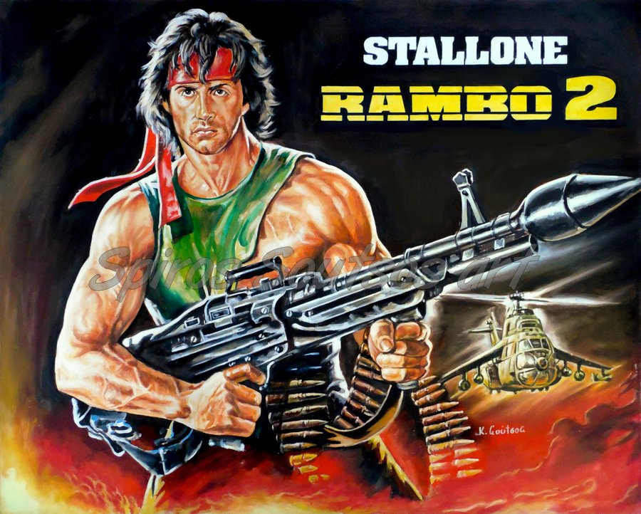 Rambo_Stallone_Sylvester_painting_poster_canvas