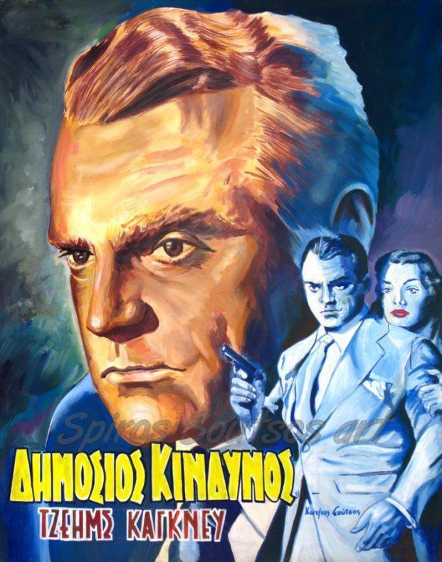 james_cagney_painting_portrait_public_enemy_poster