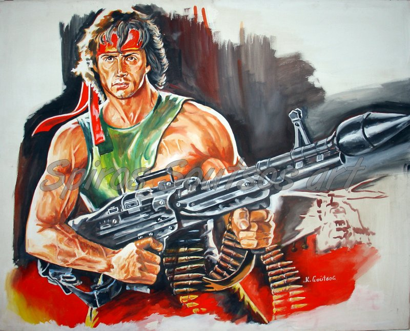 Rambo_stallone_process_painting_poster