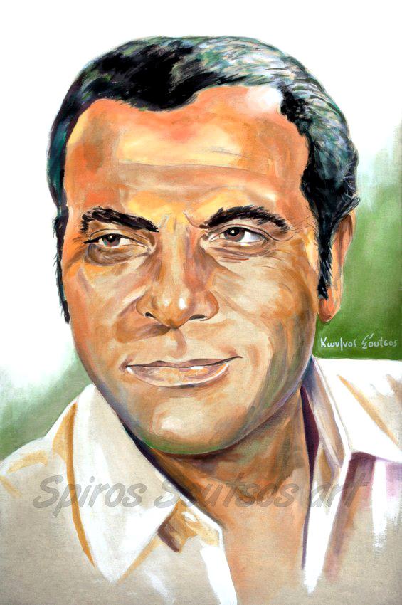 stelios_kazantzidis_portrait_pinakas_zografia_poster