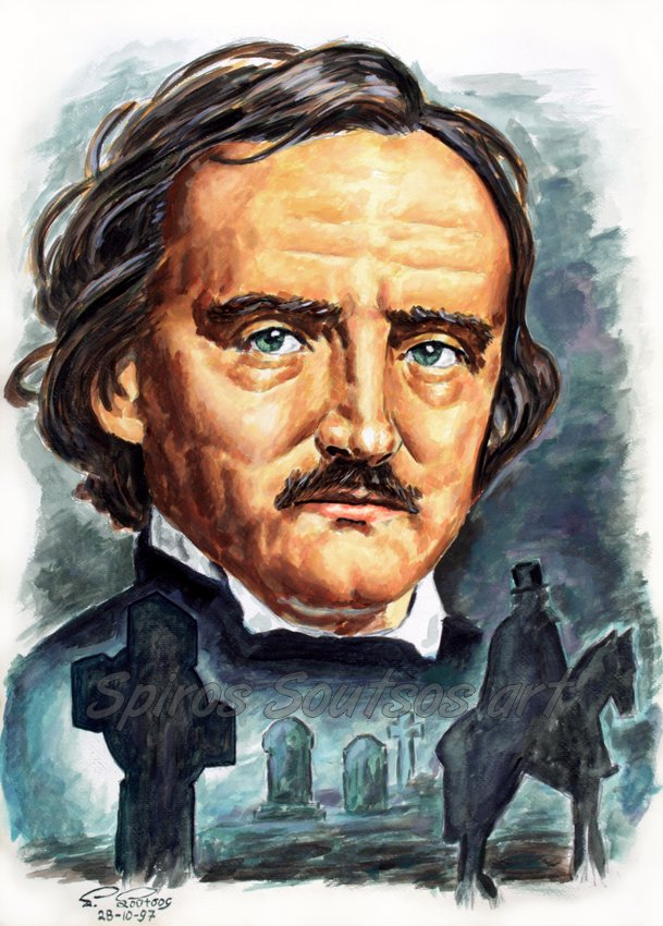 Edgar Allan Poe painting portrait