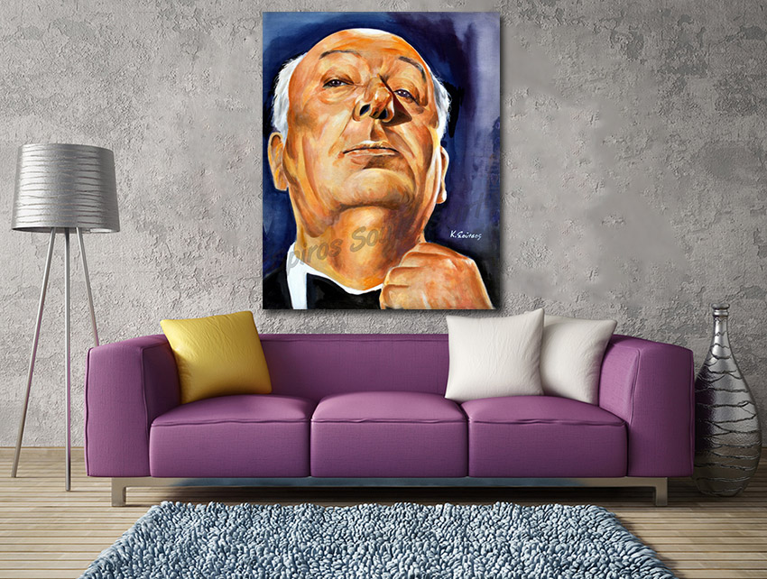 Alfred_hitchcock-painting_poster_portrait_acrylic_canvasprint_decor
