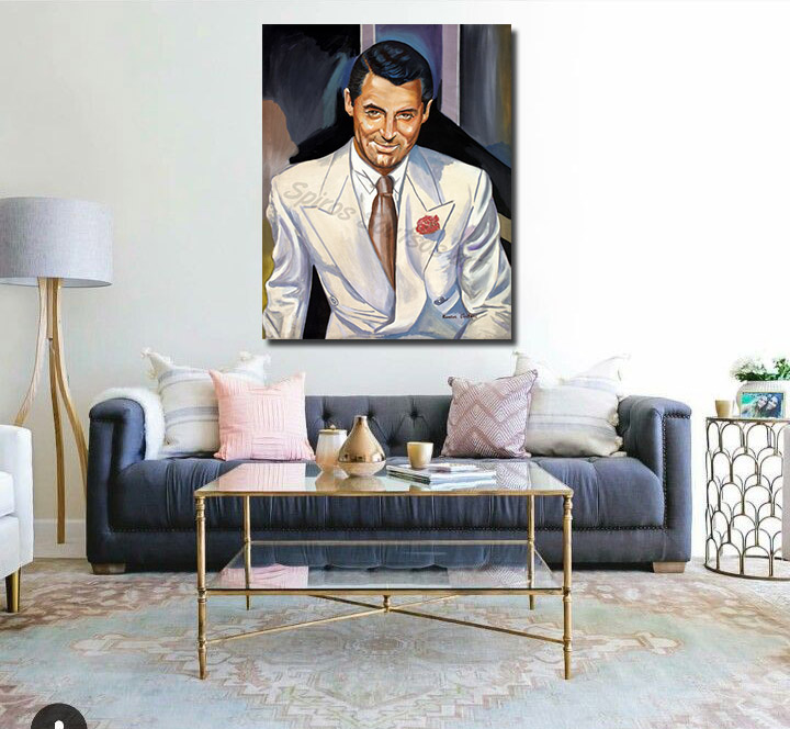 Cary_Grant_painting_portrait_poster_decor