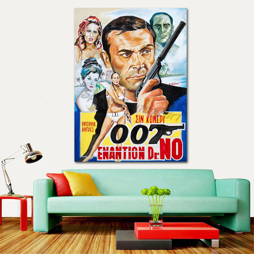 Dr.No_movie_poster_painting_sean_connery_portrait_canvas_print_sofa