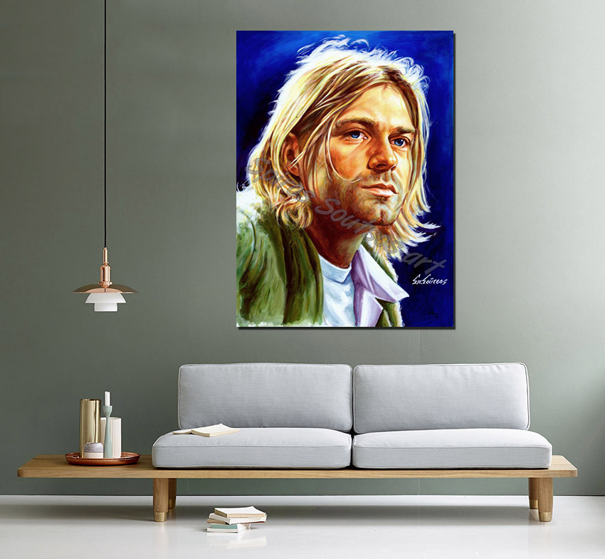 Kurt_cobain_painting_portrait_Nirvana_poster_print_canvas_sofa