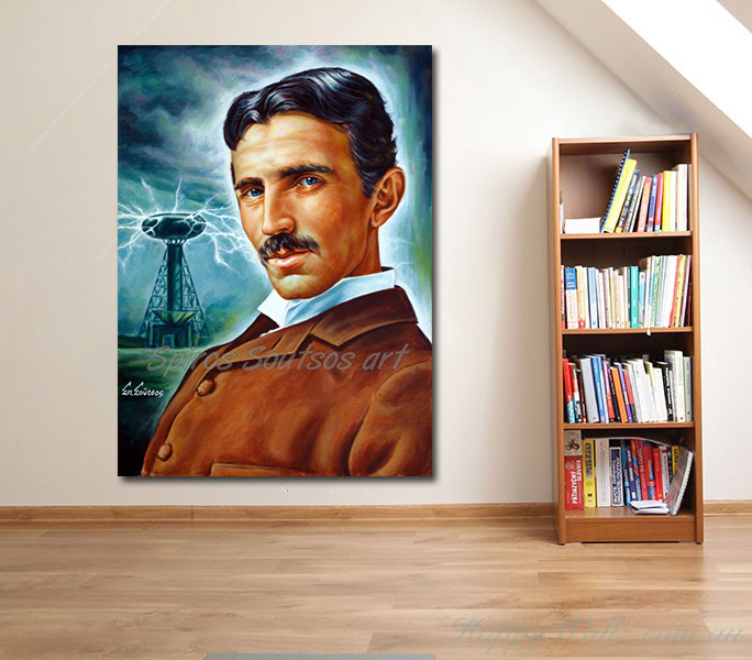 Nikola_Tesla_Tower_painting_portrait_canvas_print_poster_room