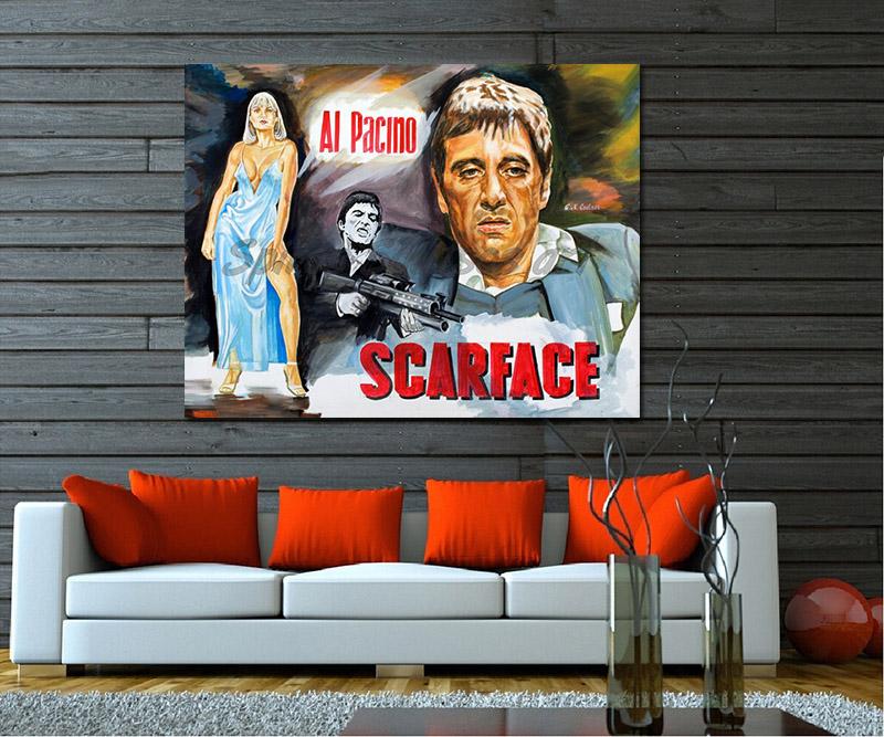 Scarface_Painting_movie_poster_al_pacino_portrait_sofa