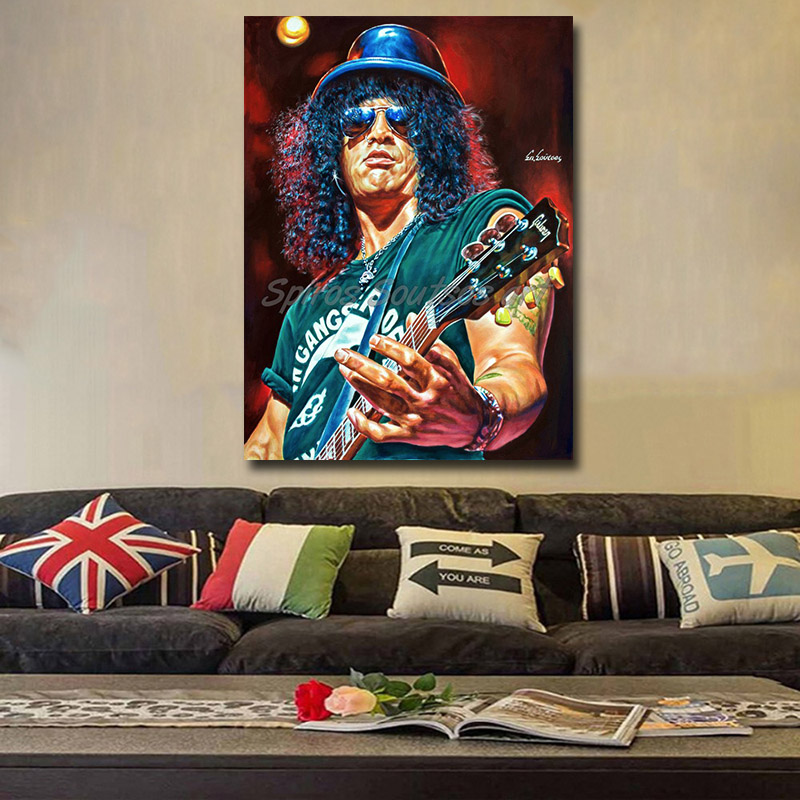 Slash_painting_portrait_Guns_Roses_poster_print_canvas_decor