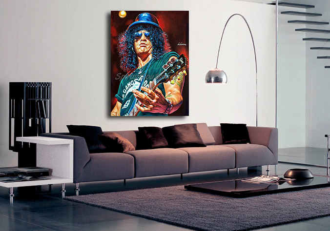 Slash_painting_portrait_Guns_Roses_poster_print_canvas_decoration