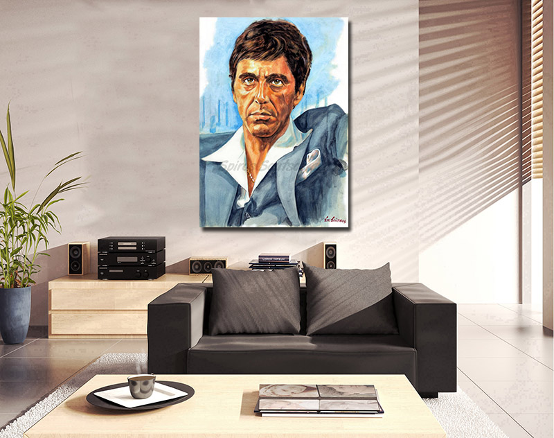 al_pacino_scarface_painting_portrait_movie_poster_print_sofa