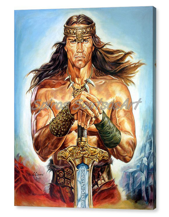 arnold-schwarzenegger-painting_movie_poster_canvas-print_conan-destroyer
