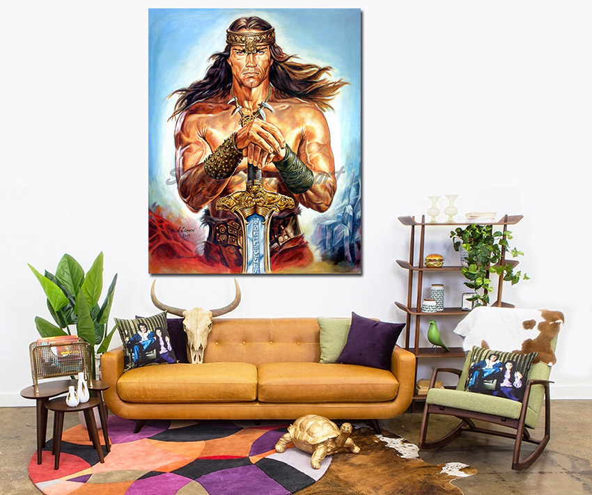 arnold_schwarzenegger_painting_conan_the_destroyer_movie_poster_canvas_print_sofa