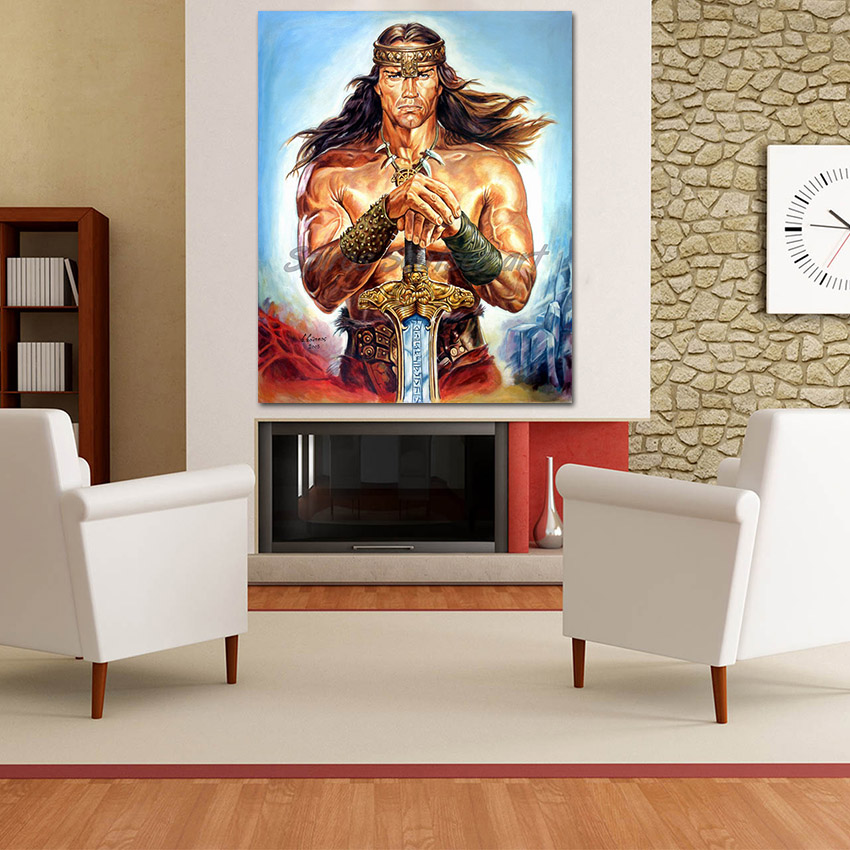 arnold_schwarzenegger_painting_conan_the_destroyer_movie_poster_canvas_sofa