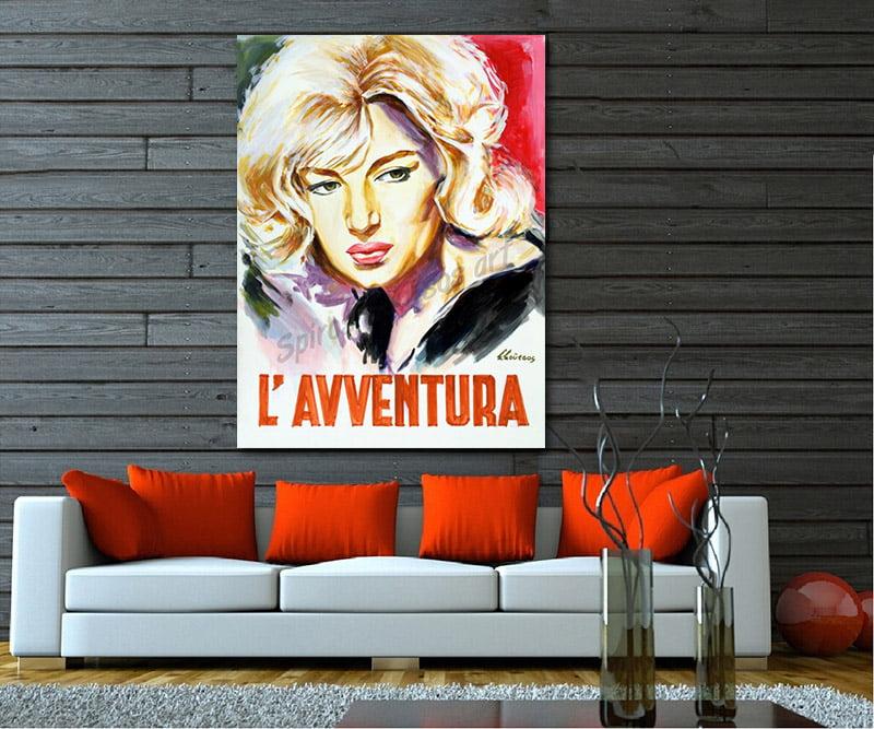 l_avventura_antonioni_movie_poster_monica_vitti_painting_portrait_canvas_ecor