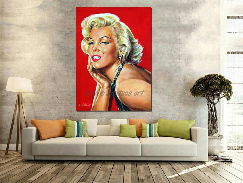 marilyn_monroe_painting_poster_portrait_print_gentlemen_blonds_canvas_print_sofa