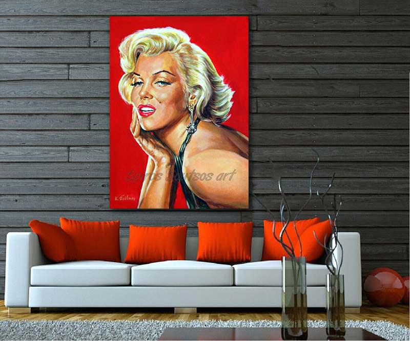 marilyn_monroe_painting_poster_portrait_print_gentlemen_blonds_canvas_sofa