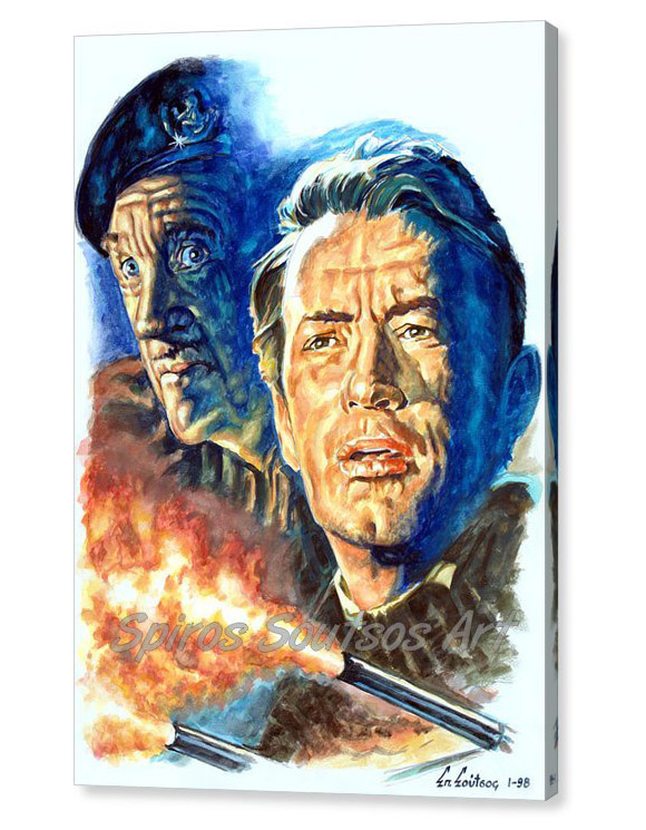 guns-of-navarone-1961-gregory-peck-david-niven-spiros-soutsos-canvas-print_painting_movie_poster_portrait