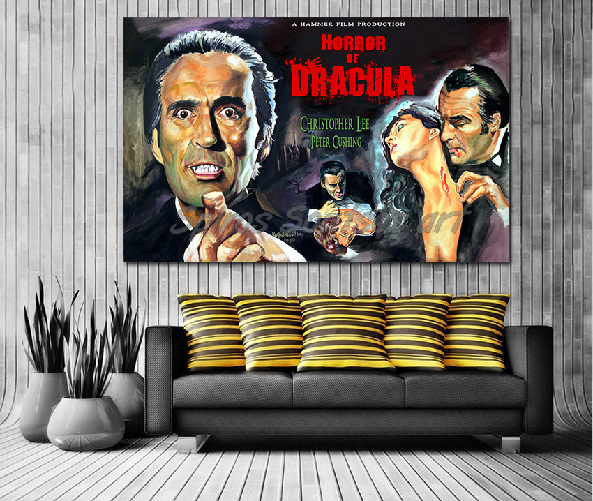 dracula_movie_poster_print_canvas_painting_christopher_lee
