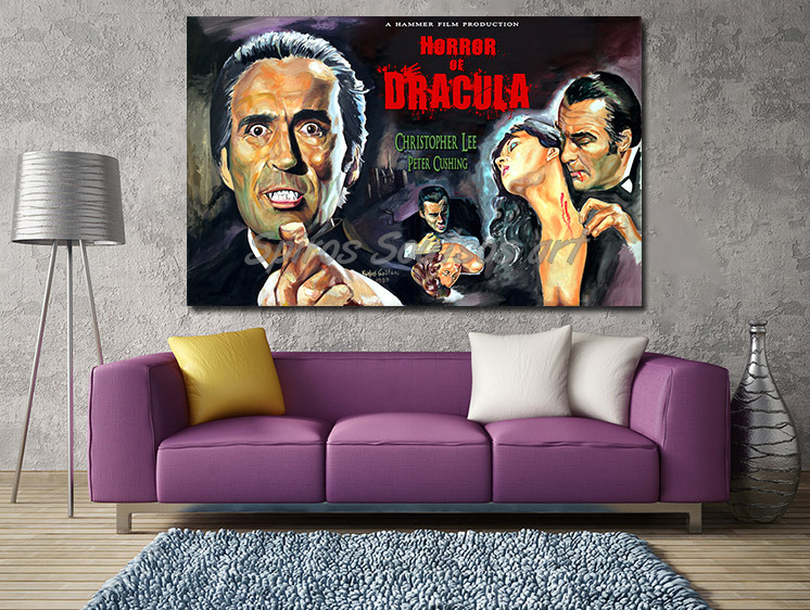 christopher_lee_dracula_movie_poster_print_canvas_painting_sofa