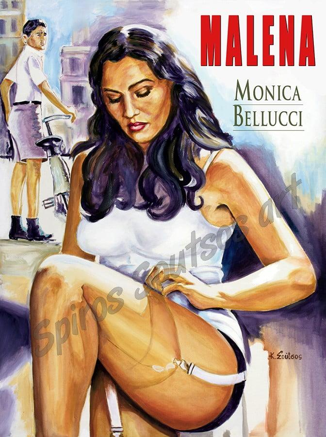 malena_monica_bellucci_movie_poster_painting_portrait_canvas