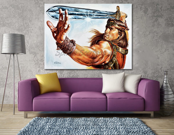 Conan_the_barbarian_painting_poster_arnold_scwharzenegger_portrait_decor_print_canvas