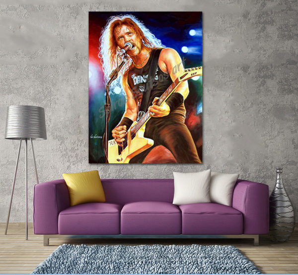 James_Hetfield_painting_portrait_metallica_DECOR_PRINT_CANVAS