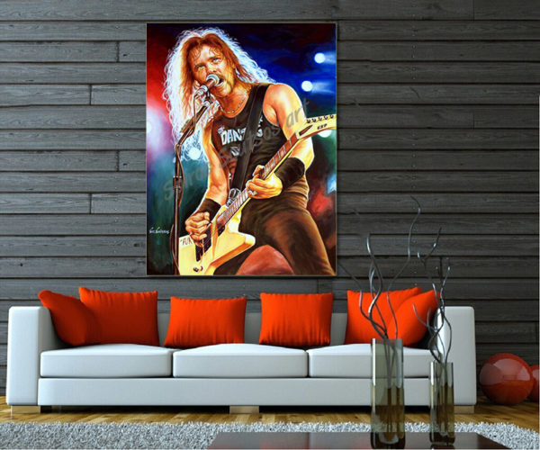 James_Hetfield_painting_portrait_metallica_PRINT_SOFA_CANVAS