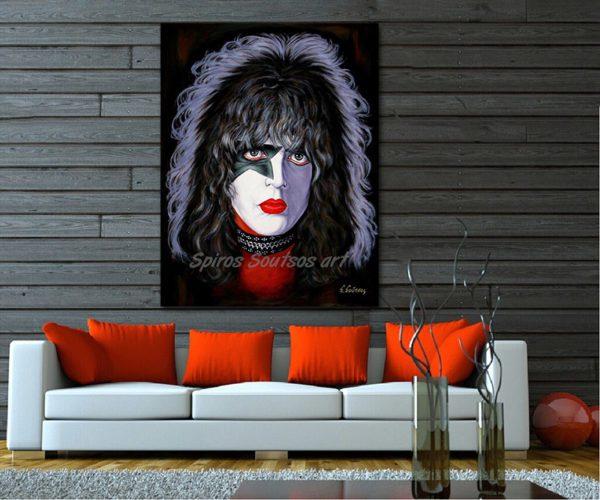 Paul_Stanley_painting_portrait_painting_print_canvas