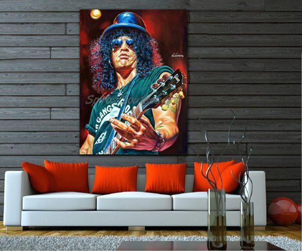 Slash_painting_portrait_Guns_Roses_poster_print_canvas_print_sofa